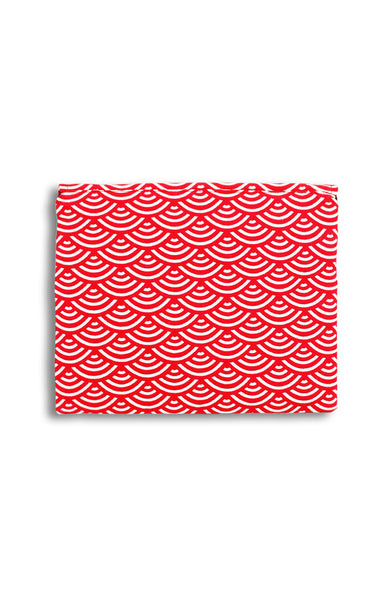 Kyoto Seigaiha ANGPAO Organizer Clutch in Red