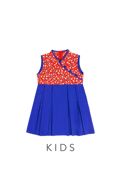 KIDS Legendary Doves & Sakura Cheongsam Dress