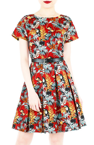 products/Let_s_Fla-mingle_Flare_Dress_with_Short_Sleeves_Ruby_Red-1.jpg