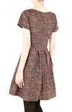 Little Sakura Blooms Flare Dress with Short Sleeves