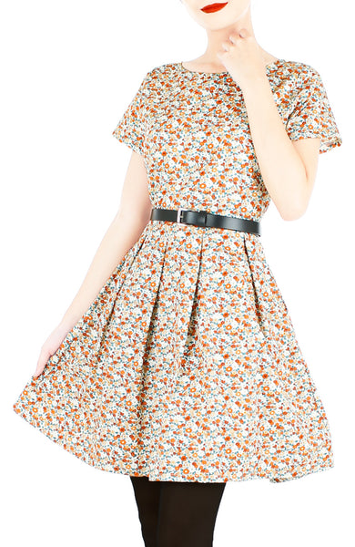 Living Lightheartedly Flare Dress with Short Sleeves
