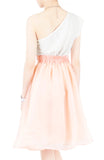 Loveliest Ballet Organza Flare Skirt - Light Peach
