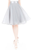 Loveliest Ballet Organza Flare Skirt - Light Silver