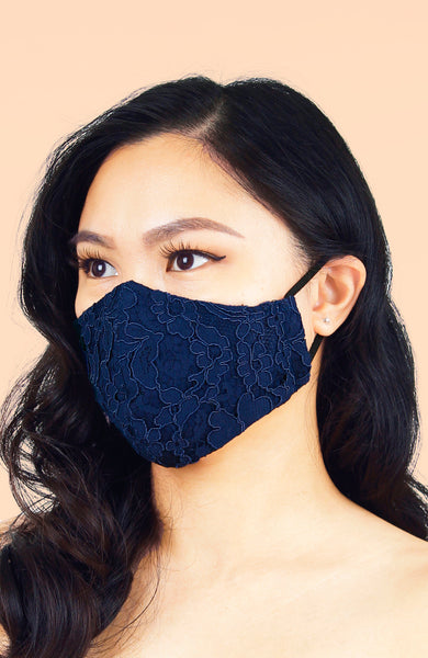MASQUERADE Luxe Lace Mask – Royal Blue