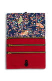 Magnificent Sakura ANGPAO Organizer Clutch in Symphony Blue