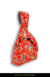 Magnificent Sakura Japanese Prosperity Bag in Red - Reversible