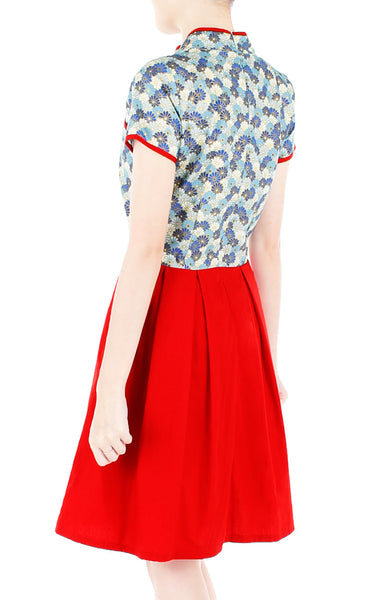 Majestic Porcelain Cheongsam Dress
