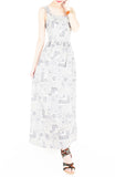 Mediterranean Mosaique Getaway Maxi Dress - Blue