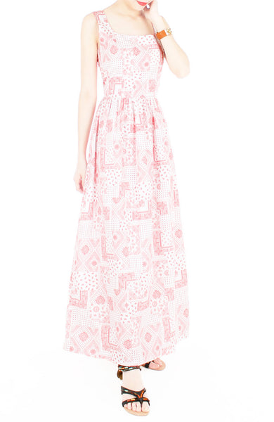 Mediterranean Mosaique Getaway Maxi Dress - Red
