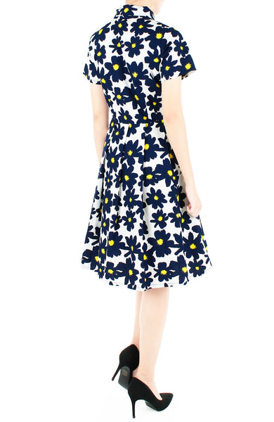 Midnight Jazz Rendition Emma Two-way Shirtdress