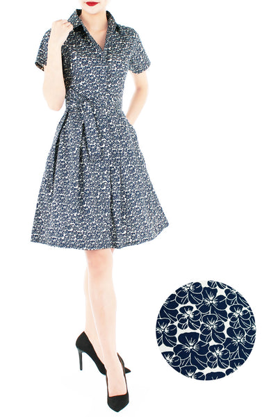 Midnight Blooms Anna Shirtdress