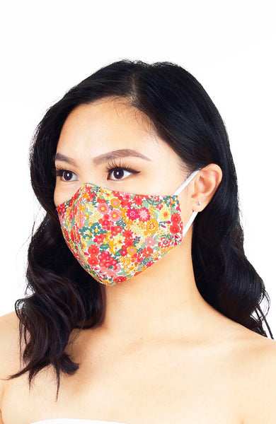 Mini Joyful 60's Bouquet Pure Cotton Face Mask
