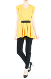 Modern Artful Origami Top - Yellow