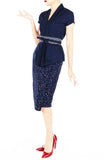 Moonlight Galaxy Mei Kebaya Dress with Obi Belt