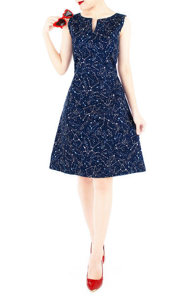 Moonlight Galaxy Stella Dress – Midnight Blue