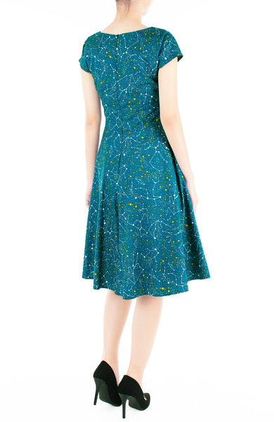 Moonlight Galaxy Flare Tea Dress