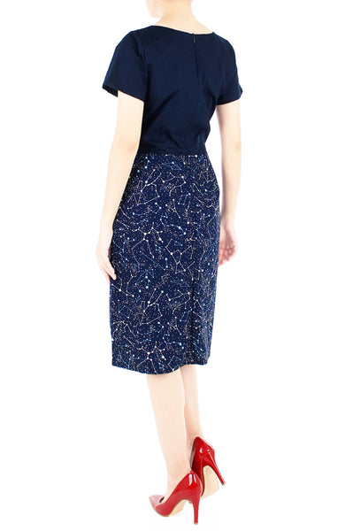 Moonlight Galaxy Jeane Dress - Midnight Blue