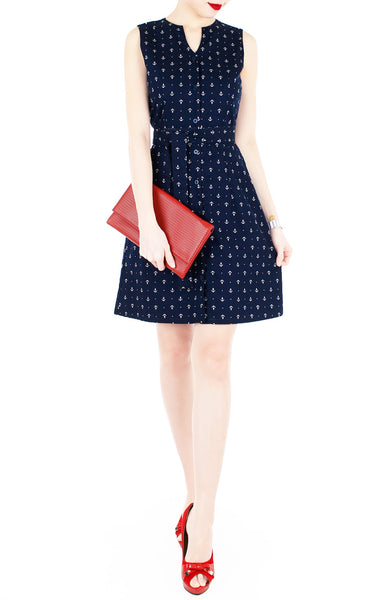 Nautical Chronicals A-Line Button Down Dress