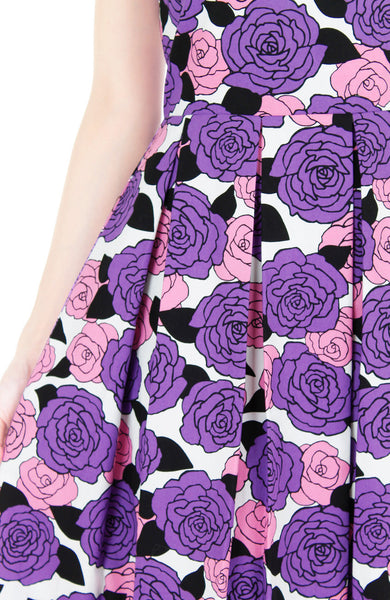Nights of Fancy Rose Flare Maxi Dress - Lavender Purple