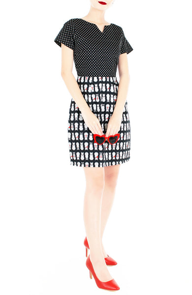 Novel Neko & Dots Vera Dress with Short Sleeves