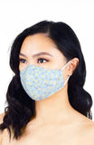 Oopsie Daisy! Pure Cotton Face Mask - Sky Blue