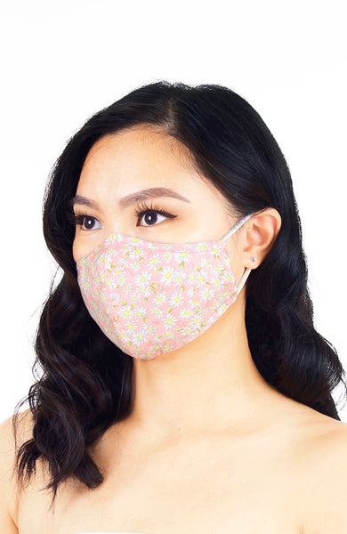 Oopsie Daisy! Pure Cotton Face Mask - Sweet Pink