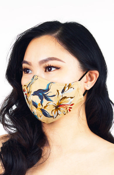 Oriental Courtyard Pure Cotton Face Mask