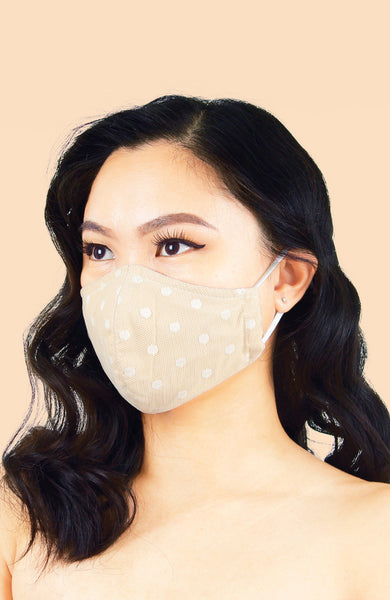 MASQUERADE Luxe Lace Mask - Porcelain Lover