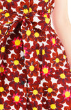 Passionate Red Daisies Emma Two-way Shirtdress