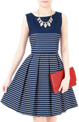 Perfectly Striped Flare Dress