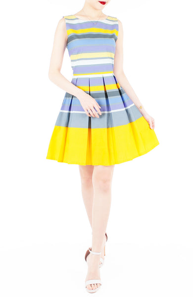 Pick-Me-Up Stripe Flare Dress