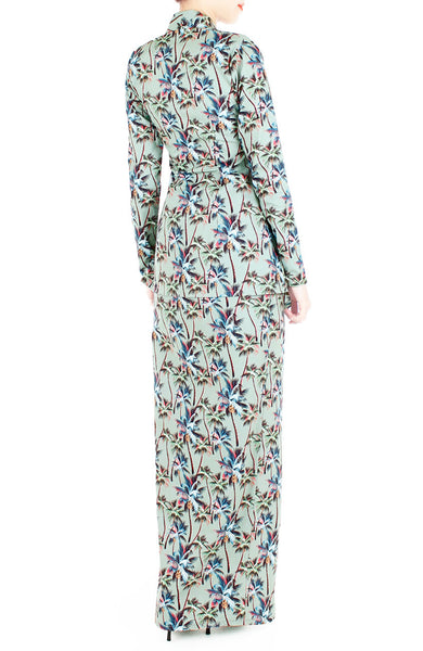 Playful Palm Print Modern Kebaya