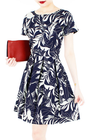 products/Poignant_Palm_Flare_Dress_with_Short_Sleeves_Midnight_Blue-1.jpg