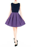 Poised for Potential Flare Dress - Thistle Purple