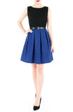 Poised for Potential Flare Dress - Ultramarine