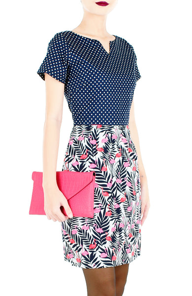 Polka the Flamingo Vera Dress