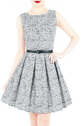 Professional Posh Flare Dress - White