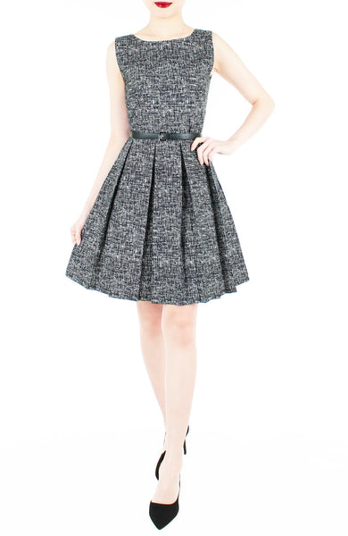 Professional Posh Flare Dress - Noir Black