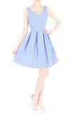 Prom Princess Skater Dress - Lavender Blue