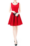 Forever Fanciful Flare Dress with Bow Back - Merlot Red