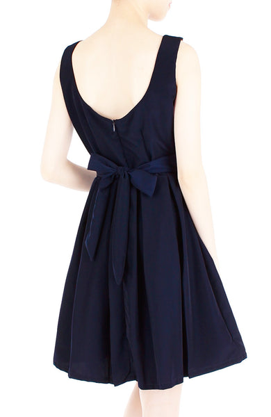 Prom Princess Skater Dress - Midnight Blue