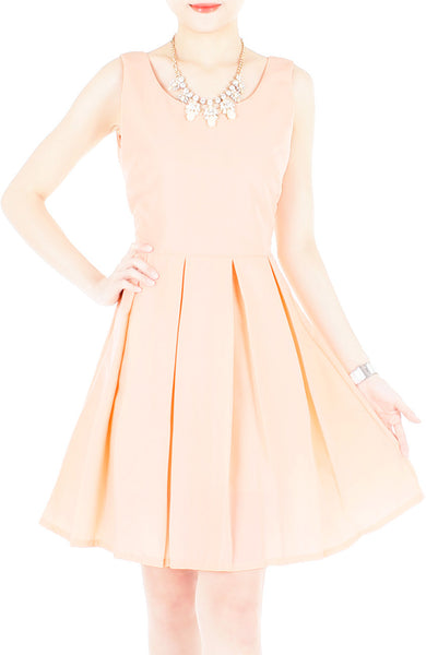 Prom Princess Skater Dress - Peach
