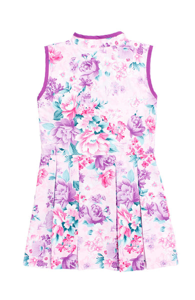 Romance of the Spring Cheongsam Dress - Orchid Purple