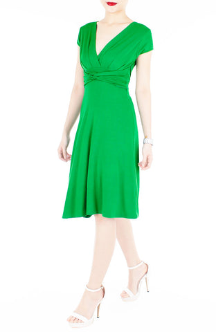 products/Romantic_Knot_Front_Dress_with_Short_Sleeves_Emerald_Green-2.jpg