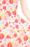 Romantic Sakura Blooms Flare Midi Dress