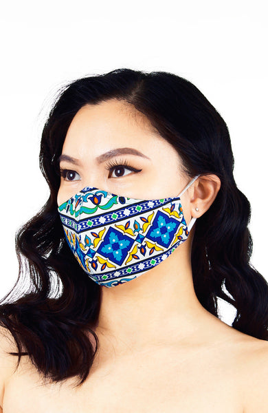 Royal Istanbul Pure Cotton Face Mask - Blue Ocean