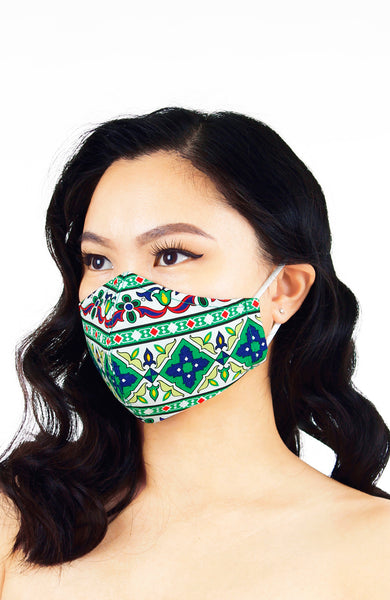 Royal Istanbul Pure Cotton Face Mask - Emerald Green