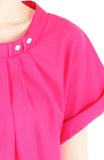 Sartorial Self-Discovery Blouse - Hot Pink