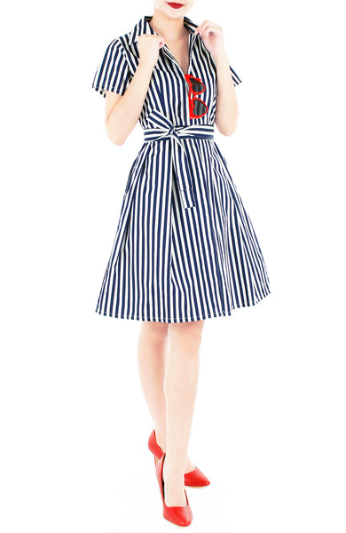 Savvy Striped Anna Shirtdress