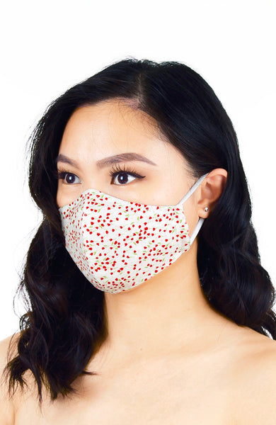 Scarlet Tulips Pure Cotton Face Mask